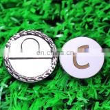 OEM custom logo enamel ball markers with popular magnetic hat clips