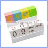 Creative Perpetual Block Calendar Desk Organizers Decorations