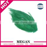 green chicken feather pad for hair accessories wholesale