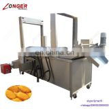 Industrial Continuous Automatic French Fries Fryer Fish Frying Equipment Potato Chips Frying Machine