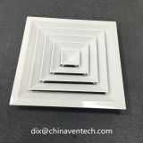 Cambodia used aluminum back X structure square 4 way ceiling diffuser
