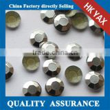 silver wholesale factory price 2mm-8mm iron on rhinestud,rhinestud iron on octagon for jeans clothes bag