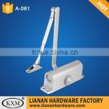 Quality aluminum middle round hydraulic door closer hinge (A061R)