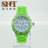 SNT-SI022 alloy silicone watch silicone wristband watch