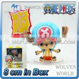 MINI QUTE 8 cm Japanese anime one piece action figure Chopper with expression accessories brinquedos boys in box NO.MQ 090