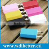 High quality New colorful EU USB Wall Home Charger AC Adapter EU Plug EU usb charger for iphone 5