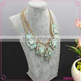 2015 Factory Wholesale Fancy Colorful Resin Beads Chunky Necklace Fashion Women Sweater Necklace