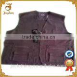 Wholesale factory price mens vest jacket with zipper stocklot from China