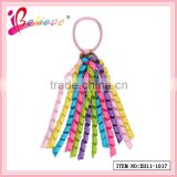 Eco-friendly grosgrain frizzy multicolor hair band wholesale delicate ribbon hair loop for girls (XH11-1017-1)