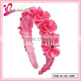 Crazy hot sale new design hair accessories ribbon hairband with rhinestone for little girls (TK1-0987)