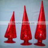 2015 glass trees, 3 pcs of set, red glass trees, various color can be made,murano glass christmas trees,glass christmas tree