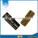 Custom Different Sizes 3d Embossed Metal Labels For Machine Sticker