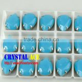 Teardrop Crystal Fancy Rhinestones, Sew On Stone With Metal Claw Settings for accessories