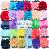 12cm big chiffon mesh flower, Wholesale Cheap Deco Poly Mesh Snow Flake Flower Wrapping Mesh Flower