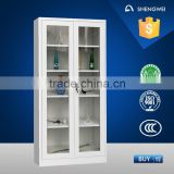 European style sunglasses showcase sliding glass door file cabinet office furniture from china