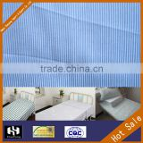 striped organic cotton hospital medical grade bed sheet fabric                                                                                                         Supplier's Choice