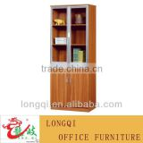 hot sale high quality modern glass door aluminum frame with drawer file cabint storage bookcase