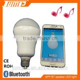 Manufacturer Color changing E27 smart bluetooth LED light speaker music smart wireless APP bulb