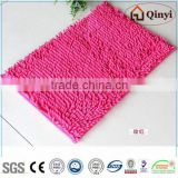 NEW Washable Jacquard microfiber bathroom mat set / Square mat and U shape mat with Lid cover / Chenille mat-QINYI
