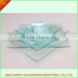 Wholesale wedding clear beaded glass charger plates