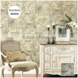 stockists printing pvc wallpaper, beige retro map wall decal for office , environmental wall paper manufacturer