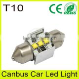 Bus interior parts led festoon bulb light, t10 base lamp, van white 6500k bulb