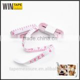 100cm white fiberglass measure 1m promotional metric tape with Company Logo or Name