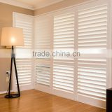 Custom white outdoor wood window blinds folding plantation shutters                                                                                                         Supplier's Choice