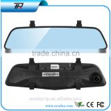 radar detector with car dvr camera 1080p Dual lens vehicle carcam hd car dvr with car dvr rearview mirror(X6)