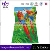 custom printing microfiber towel for beach promotion with birds
