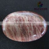 Stones for jewelry making-Red River Jasper Calibrated Oval Cabochons Beads-Loose gemstone beads and cabochons