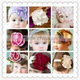 Wholesale fashion princess style headband,cotton flower headband for kids,baby kids girls headband bontique