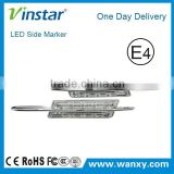 LED side marker for BMW E46 2D/4D/5D 1998-2001 with M logo without M logo E4 E-mark Certificate