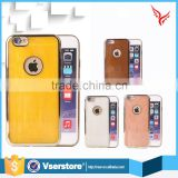 Mobile phone accessories jade electroplated TPU phone marble case for iphone 6 6 plus