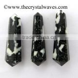 Black & White Tourmaline wholesale Double Terminated Pencil Point Khambhat Gujarat India
