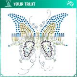 Attractive Pretty Butterfly Hot Fix Motif Iron On Rhinestone Transfer