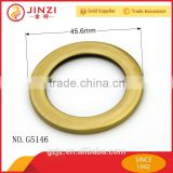 Made in China brass copper flat O ring for handbag fittings