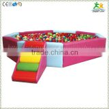 FS-SP-040B customized eco-friendly PVC & EPE & Wood kids octagonal soft play ball pool