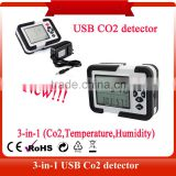 TL-2000 2016 USB interface Gas Analyzer Detector 9999ppm CO2 Analyzers With Temperature and Relative Humidity Tester
