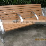 Luxery stainless steel seating bench with recycled plastic slats,garden bench stainless steel