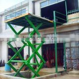 hydraulic scissor lifter platform for car lifting or goods lifting