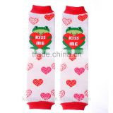 Lovely high quality factory direct wholesale kids save and soft easy moving cotton baby leg warmers