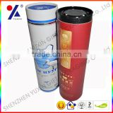 high quality cylinder shaped/ circle shaped/ tube shaped cardboard gift wine packaging box with lid