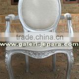 Arm Chair Upholstery in Dining Room Furniture - Single Carving Chair with Oval Back - Dining Table for Hotel Furniture