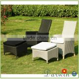 Hotsale garden swimming pool reclining wicker rattan deck chair mimosa outdoor furniture