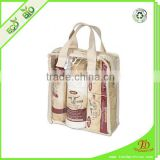 With Zipper Closure And Fabric Handles And Sides PVC Wooden Handle Handbag, Ceramic Handbag, Baby Handbag