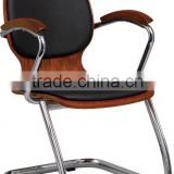 plywood bentwood black pvc pu with solid wood arm meeting guest office Chair Conference Chair A21-Y08
