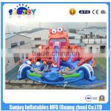 Commercial Octopus Inflatable Water Park Slide ,Pool Water Slide ,Giant floating Wate Slide