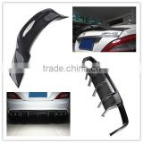 high quality carbon W218 CLS63 R style rear wing spoiler and diffuser for benz W218 Cls-class cls 350