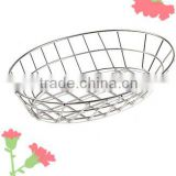 ICEGREEN oval stainless steel sandwich basket, bread basket